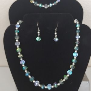 Necklace Bracelet Earring Set